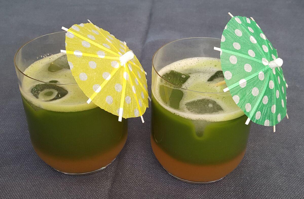 Matcha drink s grapefruitem